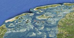 Vulkaan in de waddenzee, op pad in het noorden